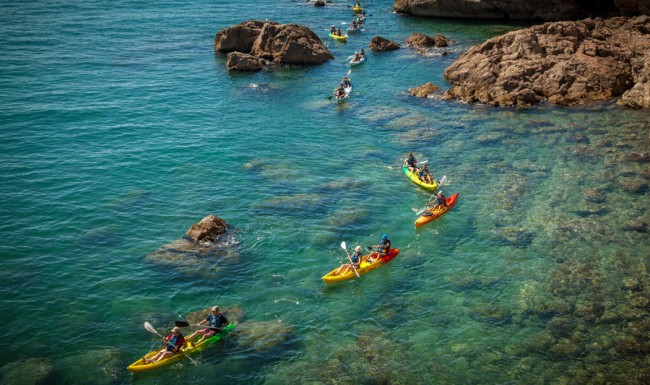 ballade kayak de mer corniche sète