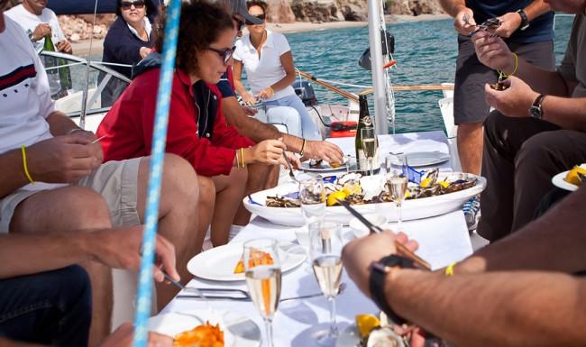 Repas sur le voilier séminaire entreprise eventsmed